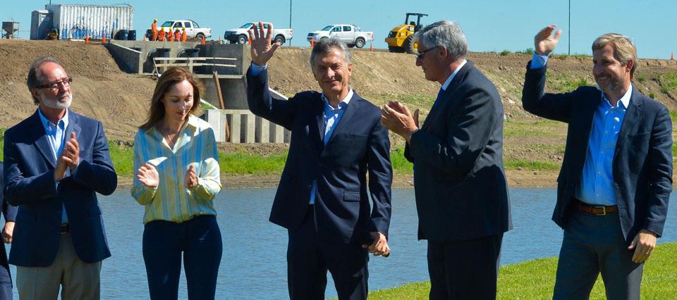 Macri anunció una nueva etapa del plan de obras hídricas en la cuenca del Salado