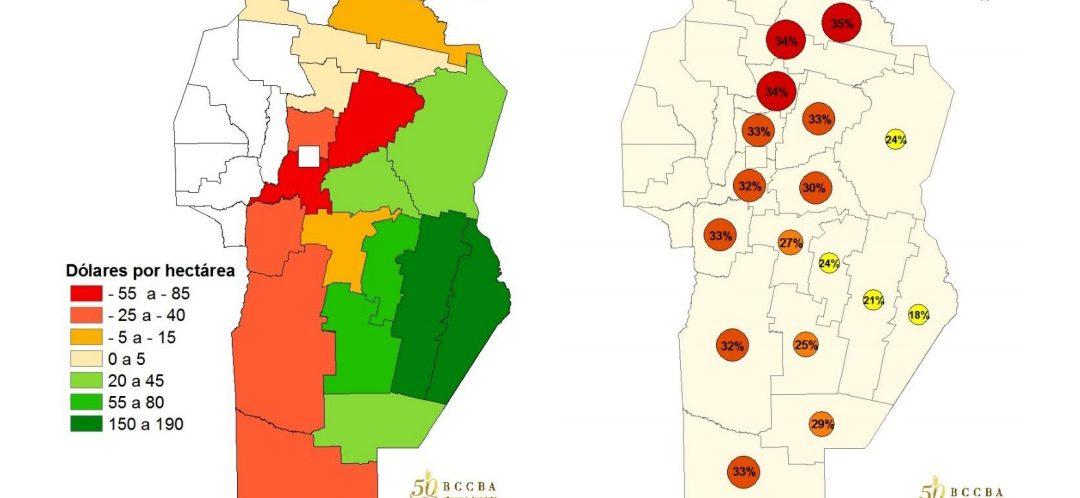 El margen bruto del trigo aumentó un 44% en Córdoba
