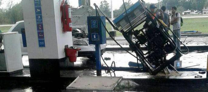 Un tornado arrasó Trenque Lauquen