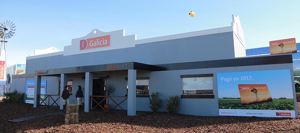 El Banco Galicia tendrá su habitual stand en Expoagro 2017