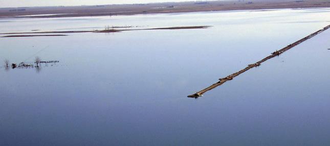 La ruta 7 continúa cortada por el desborde de la laguna La Picasa
