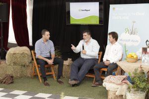 Presentación San Miguel. Diego Bekerman (Microsoft) Eduardo Martinez y Alessandro Tognola (Inipop)