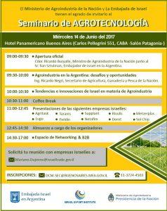 Seminario Agrotecnologia Israel