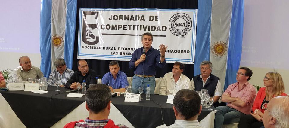 Etchevehere y el gobernador de Chaco participaron de una jornada sobre Competitividad