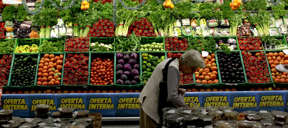supermercado verdura alimentos
