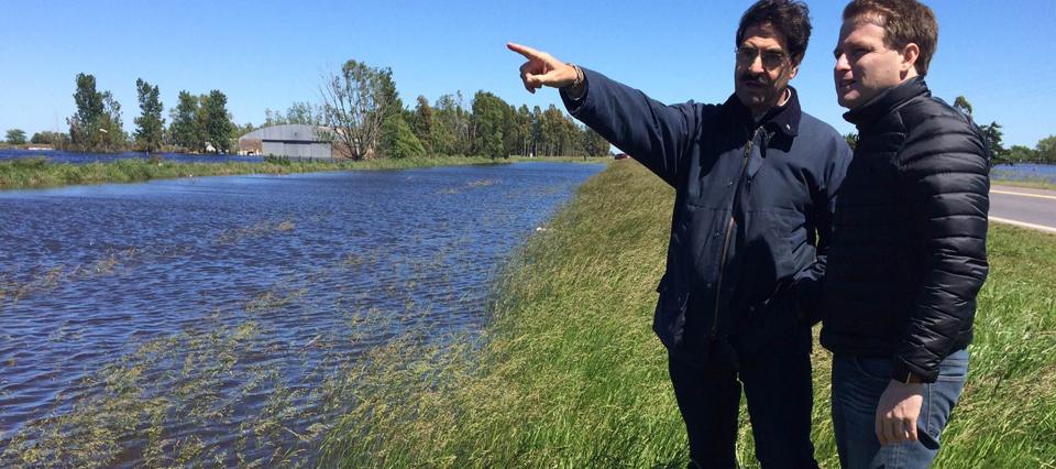 """Sarquís sobre las inundaciones: """"Somos cautos a la hora de hablar de pérdidas"""""""