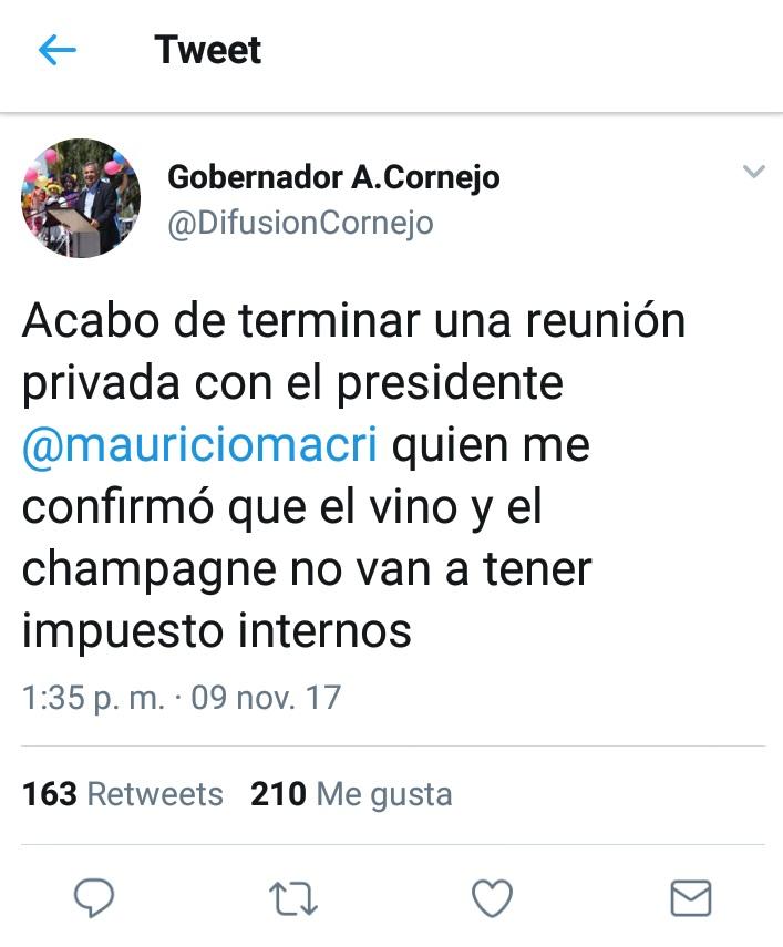 tweet Cornejo