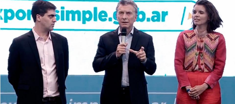 Macri presentó la plataforma digital Exporta Simple en Tecnópolis