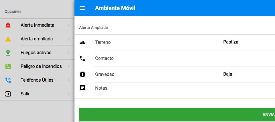 Ambiente Movil App Incendios
