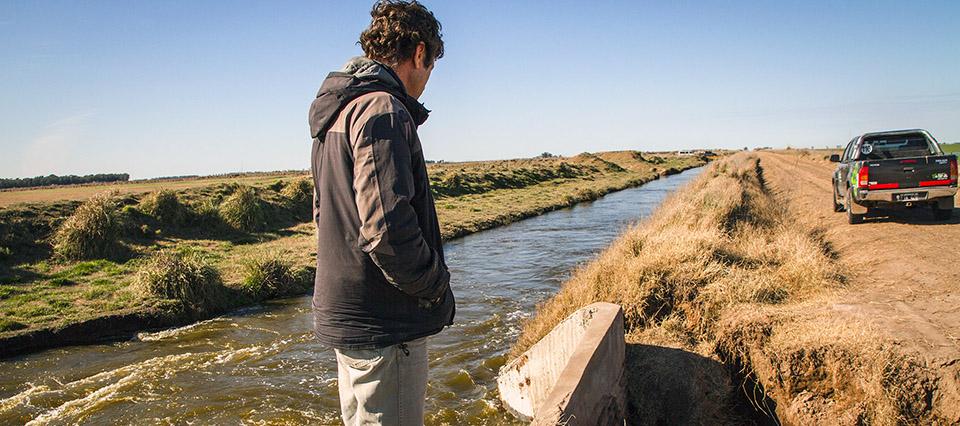 caminos rurales agua inundacion