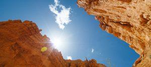 sol calor montañas