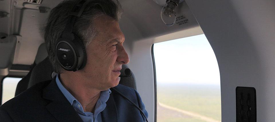 Mauricio Macri avion incendios
