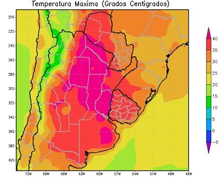 Temperaturas maximas
