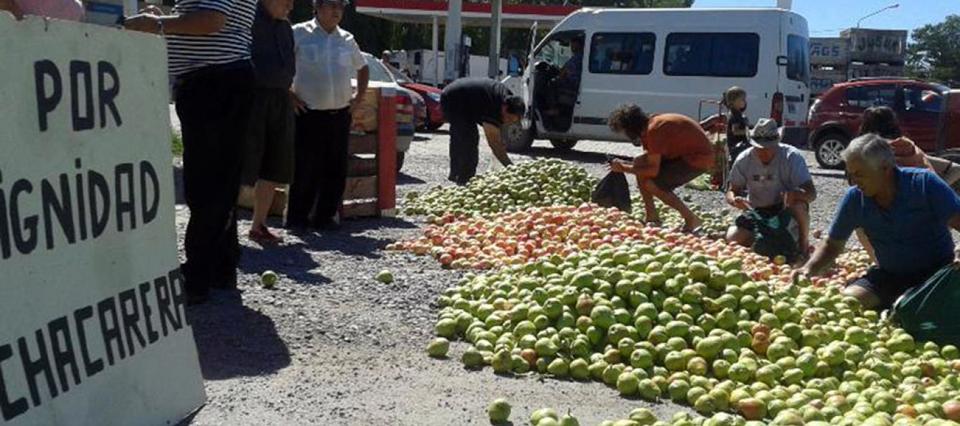 peras manzanas protesta