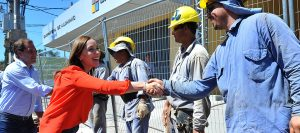 Maria Eugenia Vidal obras La Plata inundaciones Garro