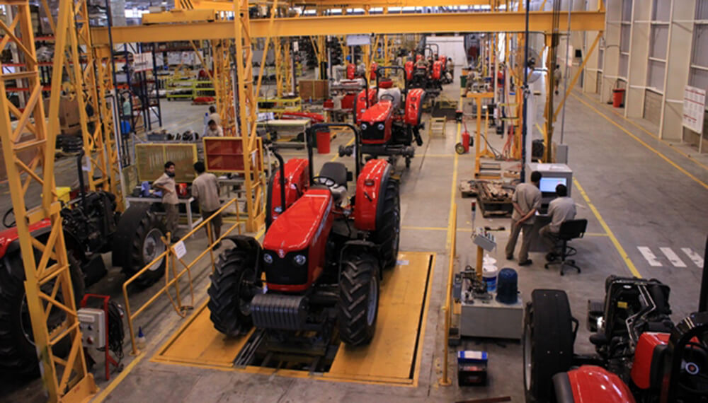 línea de producción de AGCO
