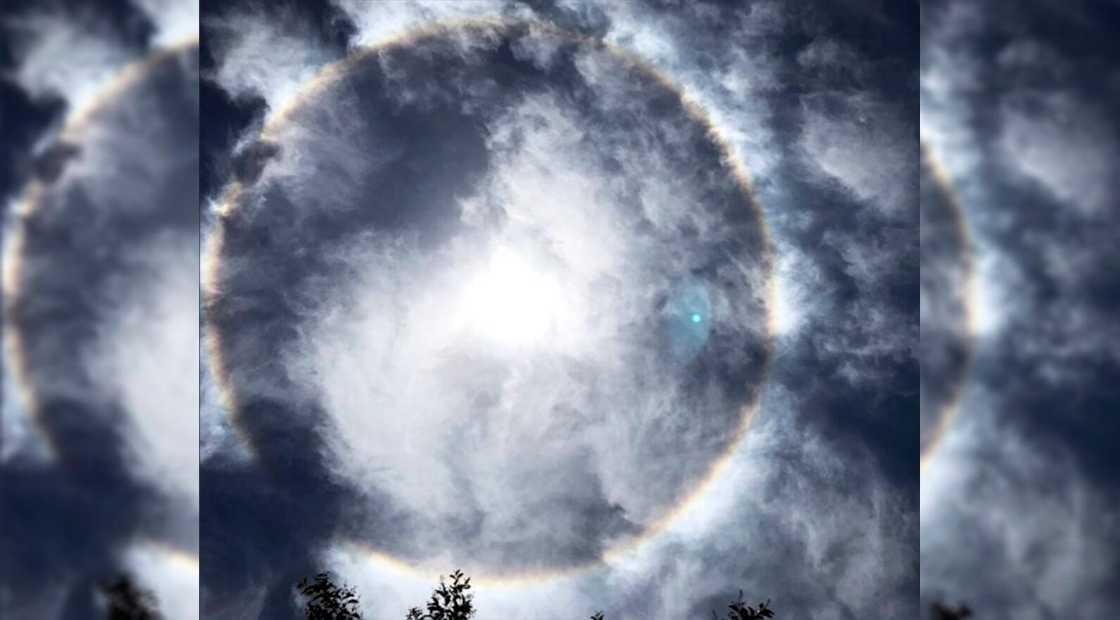 Mendoza Bajo Un Halo Solar De Que Se Trata El Fenomeno Meteorologico Que Cautivo A La Provincia Infocampo