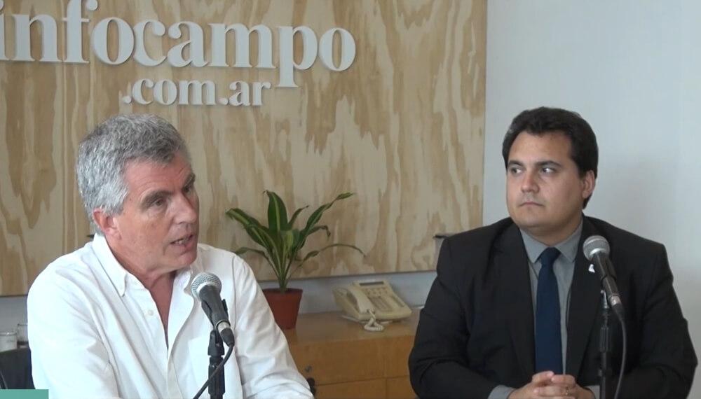 Retenciones: Teo Zorraquin y David Miazzo vistaron los estudios de Infocampo para hablar del impuesto