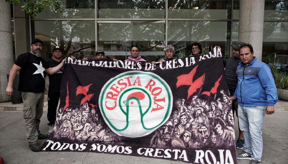 Protesta en Cresta Roja