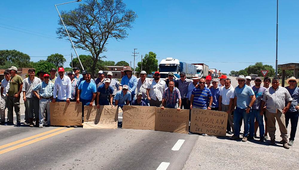 Protesta de productores Tucumán Infocampo