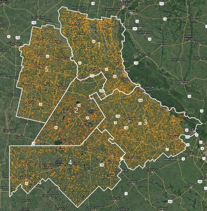 Trigo: la imagen satelital de la siembra de trigo