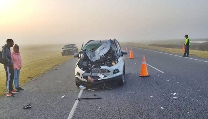 accidente de camioneta en la ruta 2