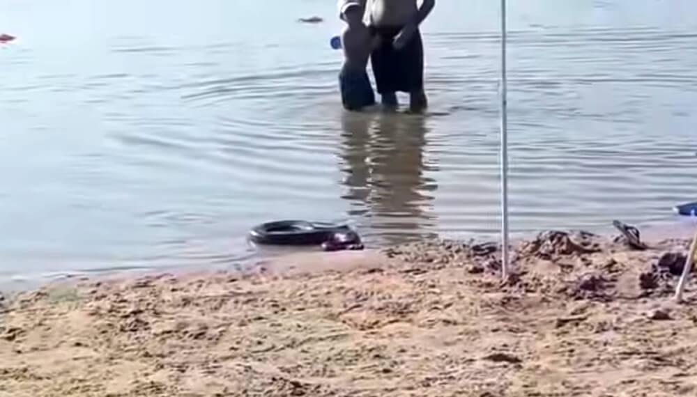Anaconda en playa de entre ríos