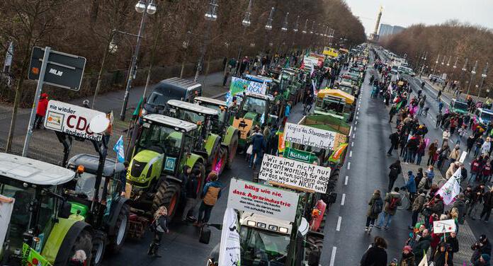 tractores protesta