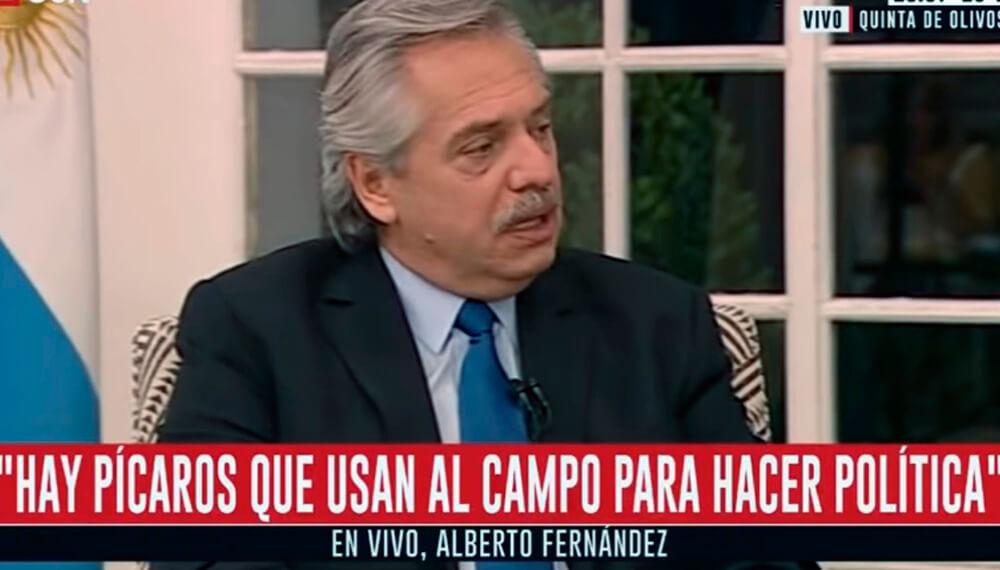 Alberto Fernandez Retenciones
