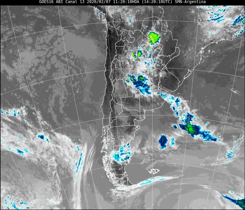 Imagen satelital del 7 de febrero