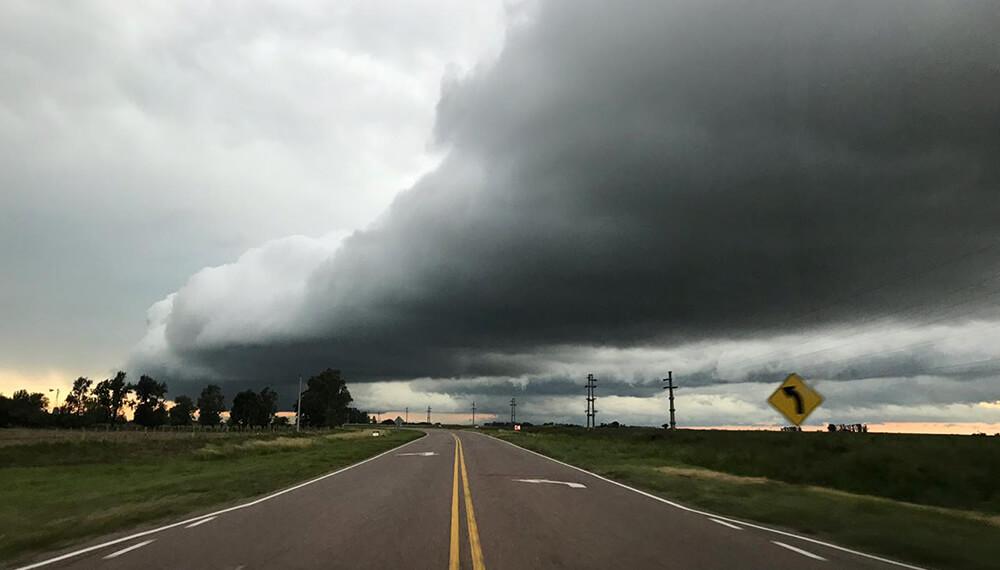 tormenta en ruta nacional