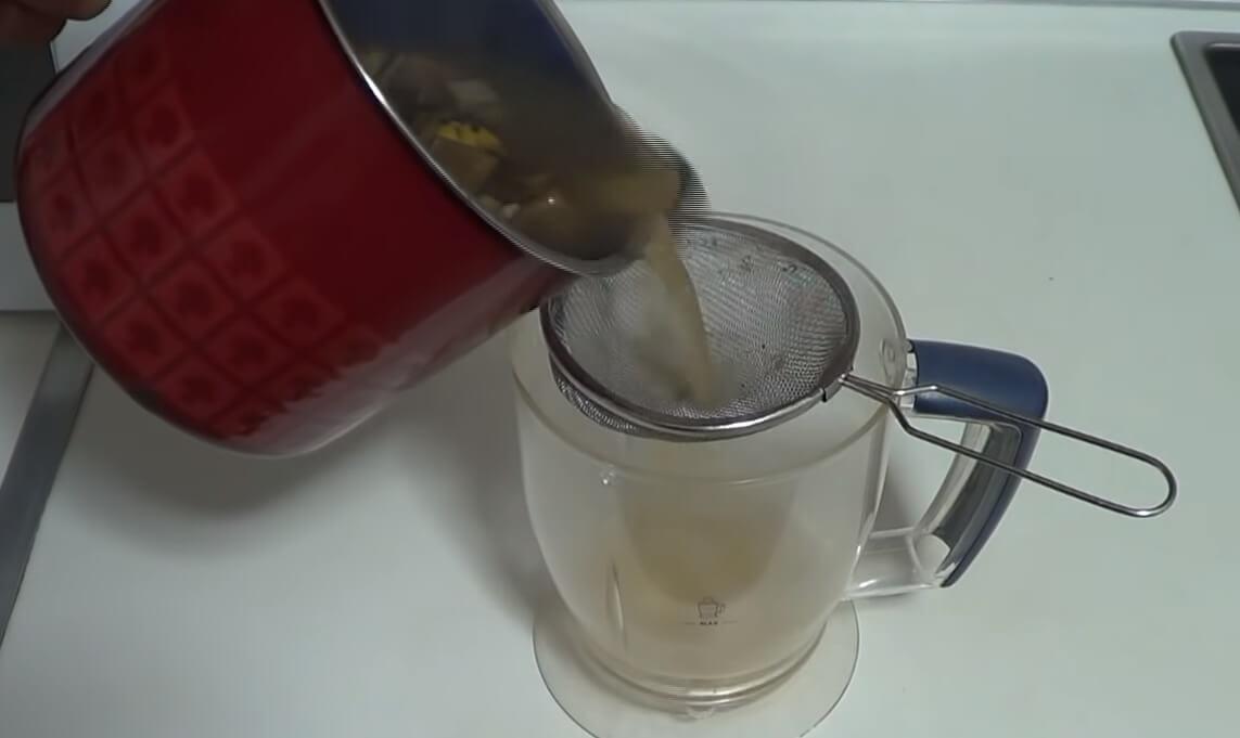 colado del té