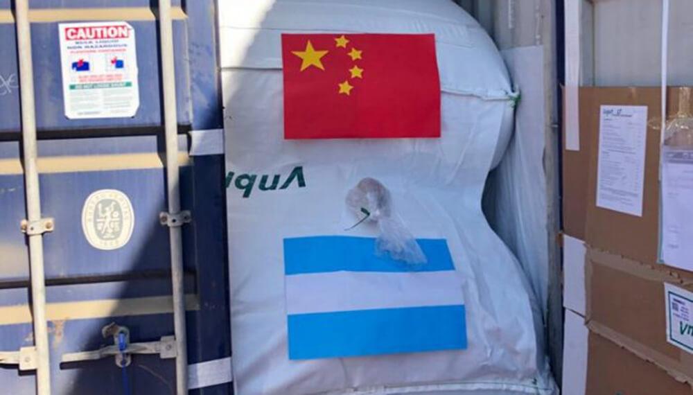 container con vino destino a china