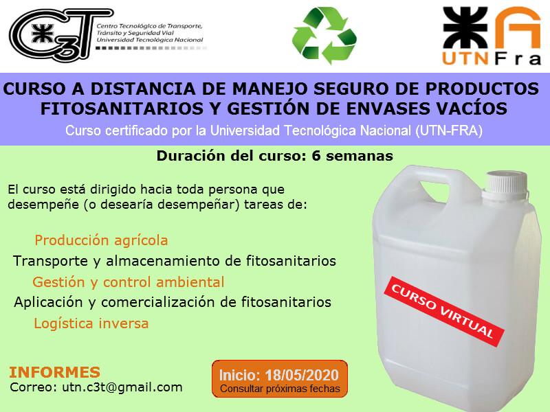 Curso Manejo de Fitosanitarios - UTN - Flyer