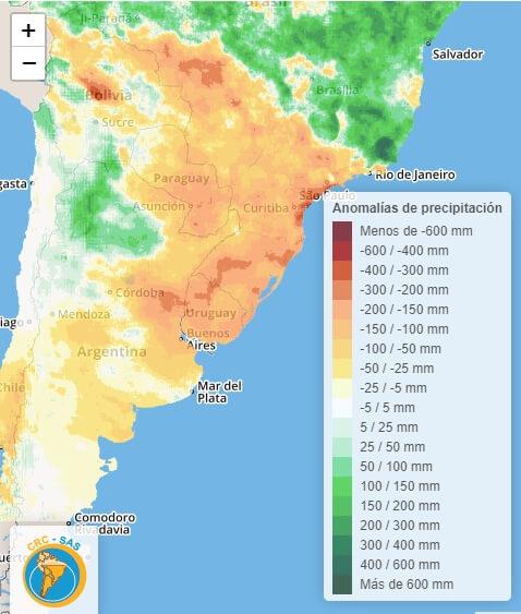 Bajante del río Paraná - Lluvias - Trimestre Enero - Abril- 200421