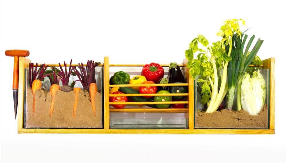 verduras en caja
