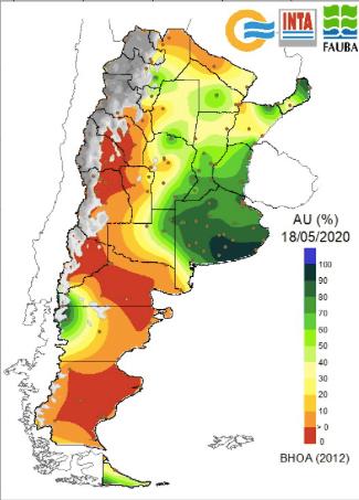 Agua útil en el suelo - 200518