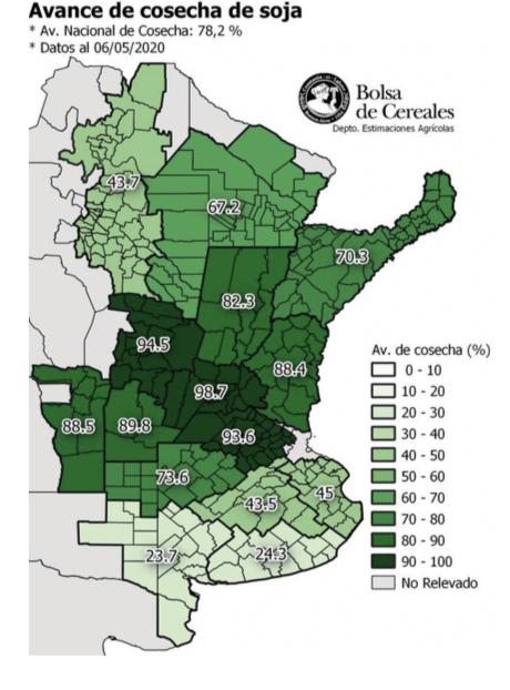 Soja - Rendimentos promedio por zona - 200507
