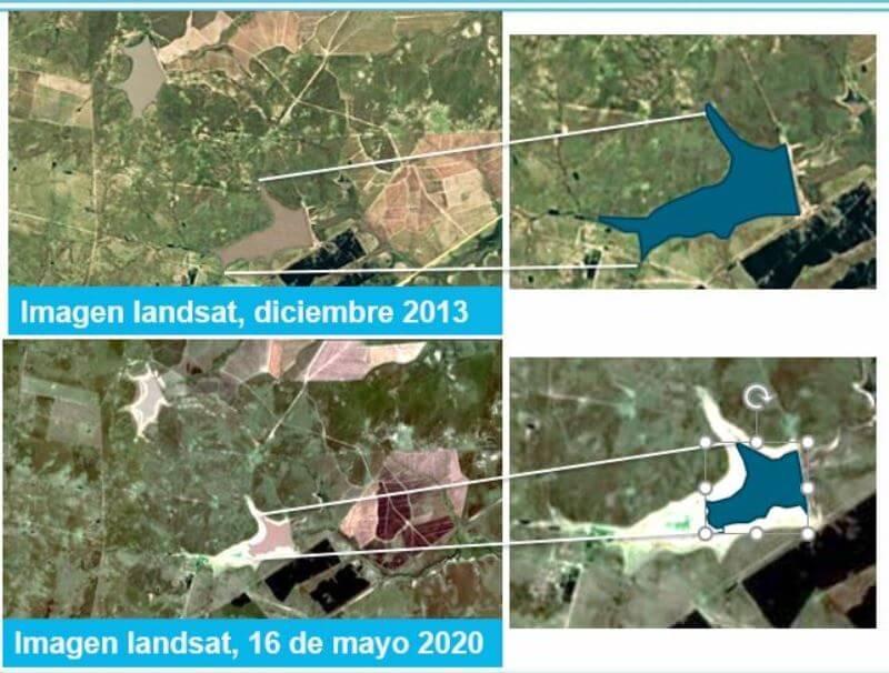 imágenes satelitales represa