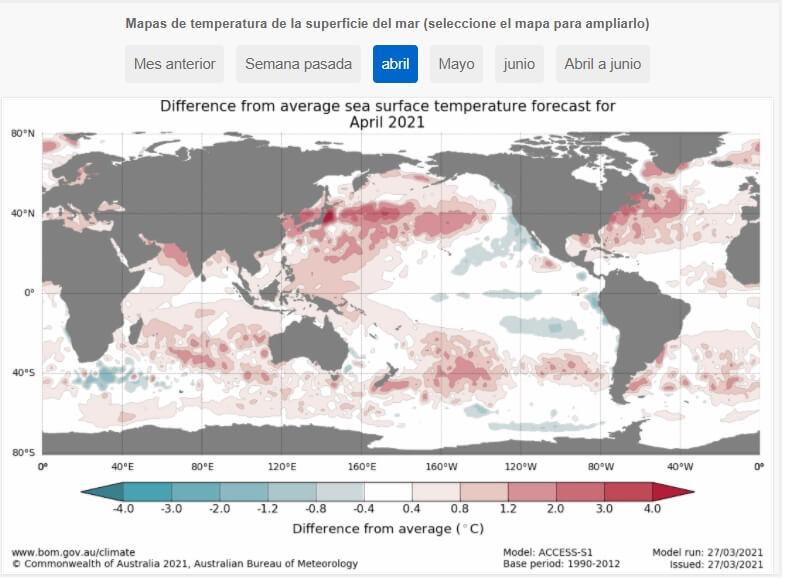 Mapa de El Niño