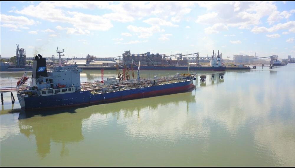 Barcos en el puerto de Bahía Blanca