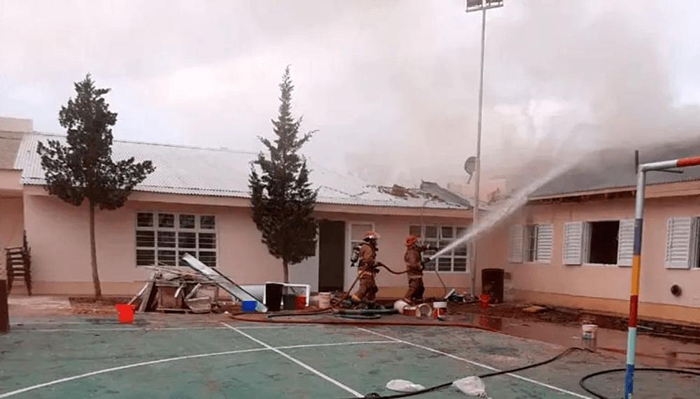 escuela rural explosion neuquen