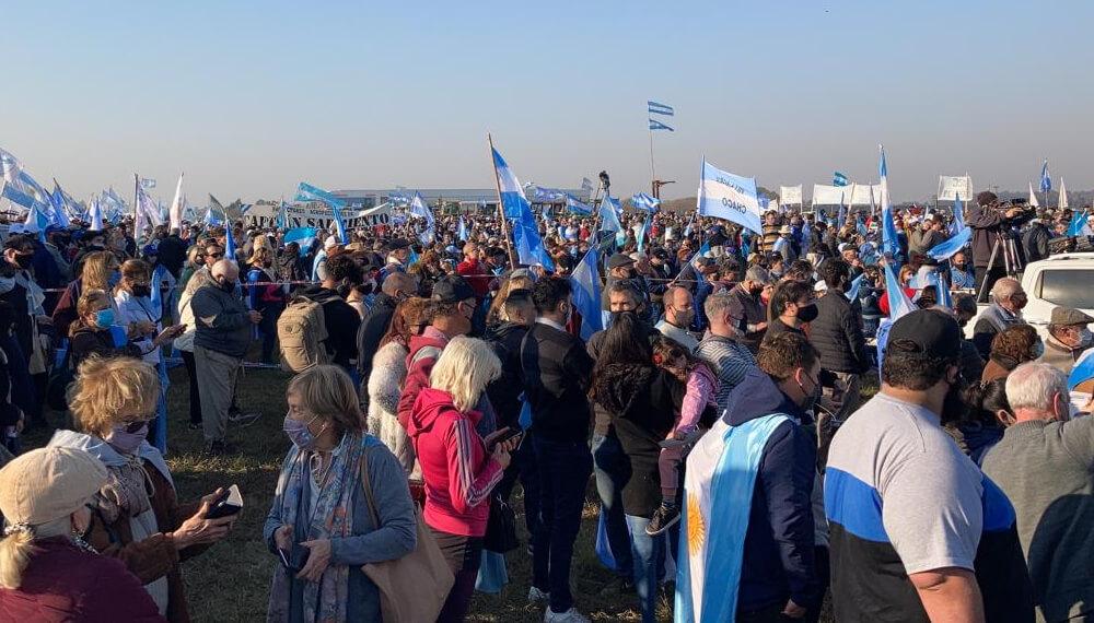 Manifestación del campo en San Nicolás