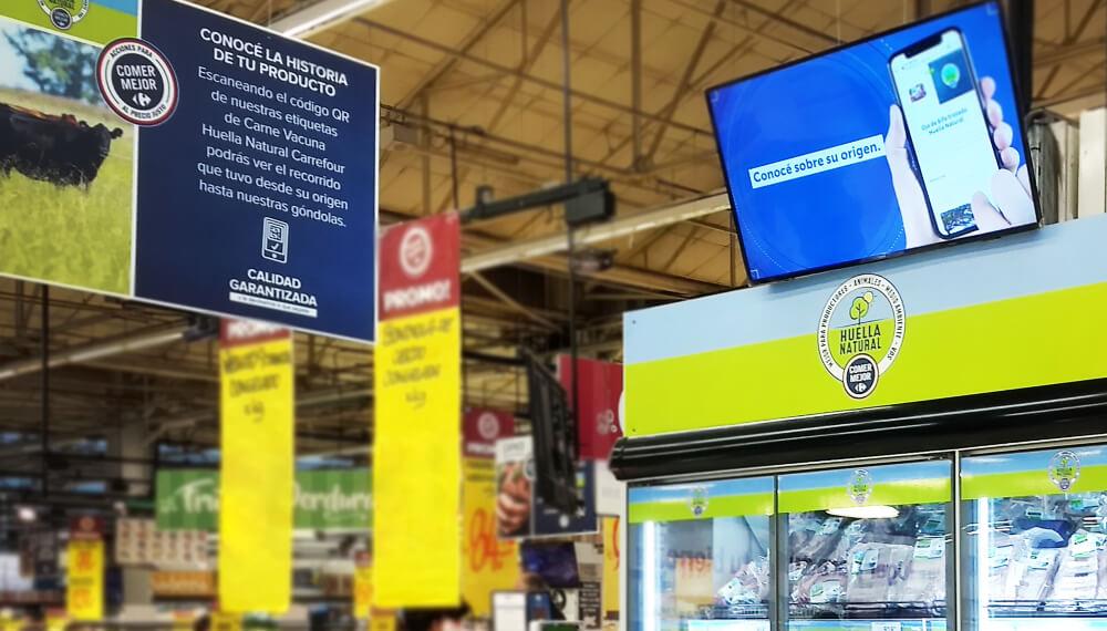Lanzan blockchain en la marca Huella Natural de Carrefour