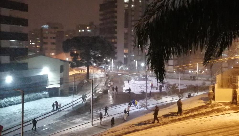 Imagenes de la nevada en el sur de brasil