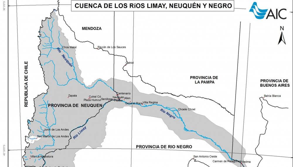 Mapa de la cuenca hidrica