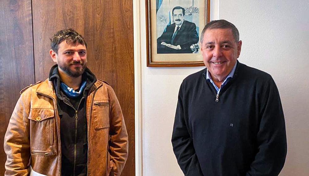 Juan Grabois y Alfredo de Angeli