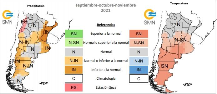 SMN - Pronostico trimestral de lluvias