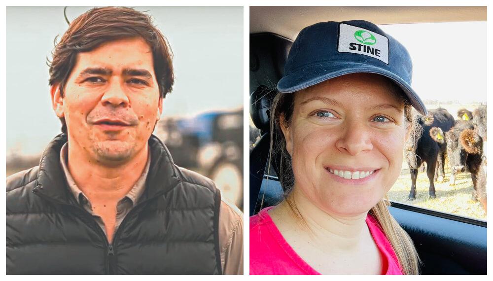 La pareja de productores Julian Muguerza y Lara Giuliani