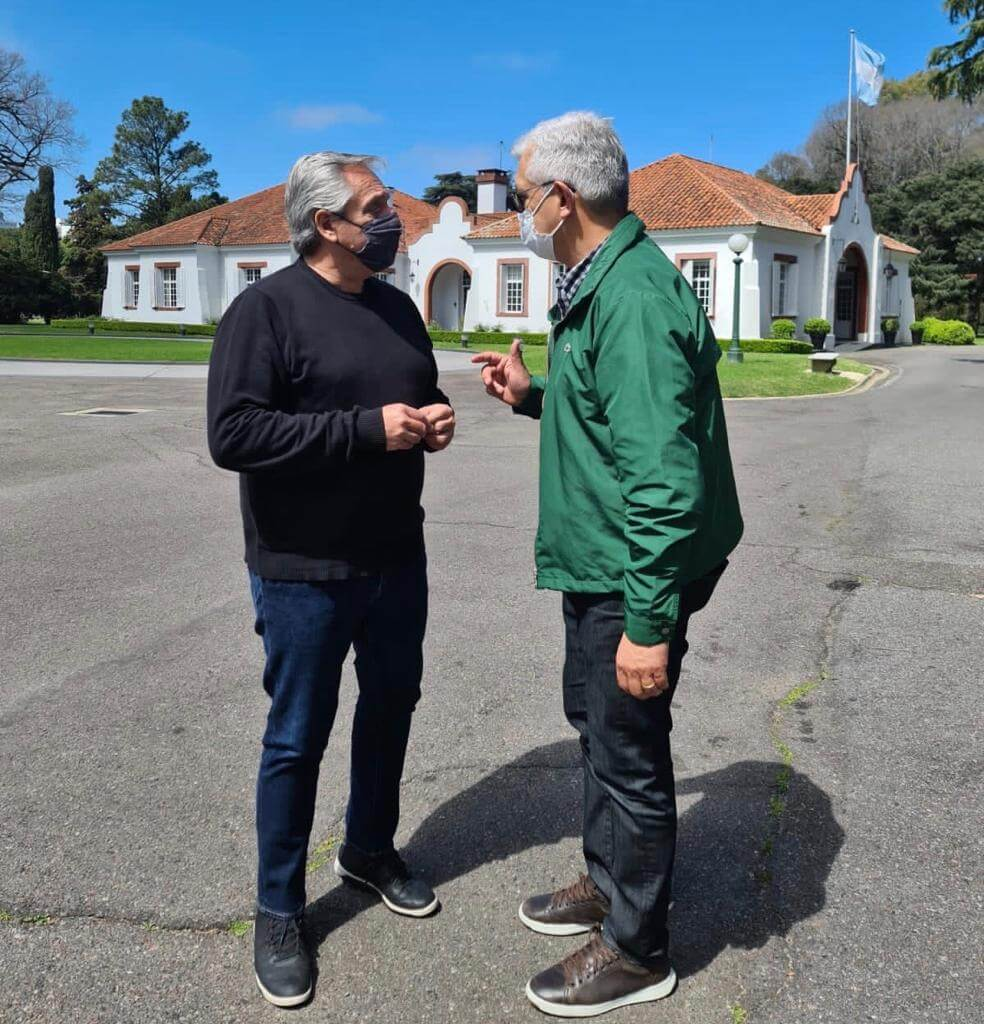 Reunion Alberto Fernandez - Julian Dominguez